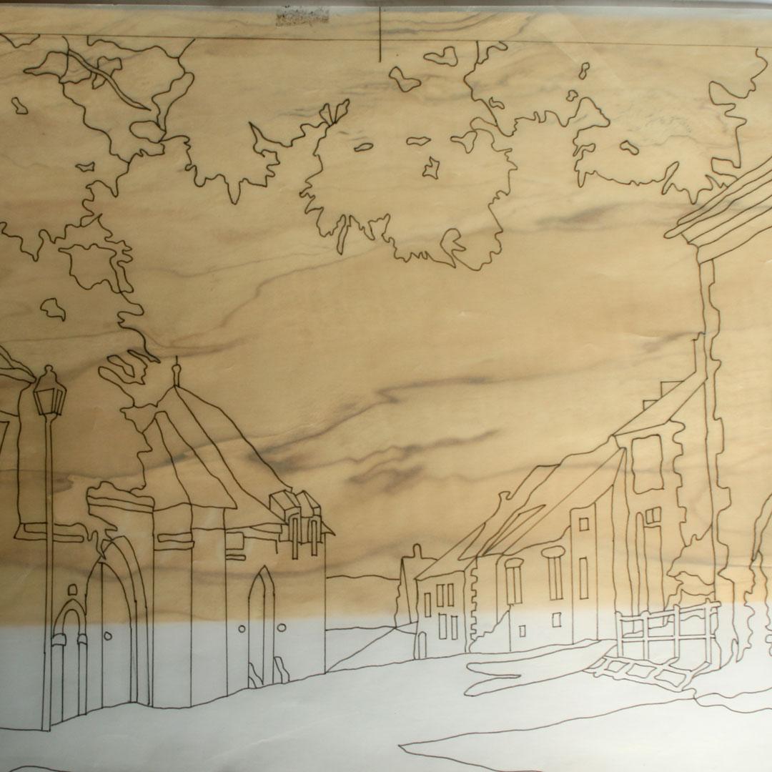 Marqueterie_Perreuse-Choix du placage pour le ciel