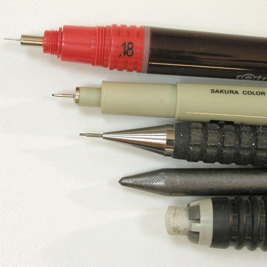 Crayons et feutres à tracer